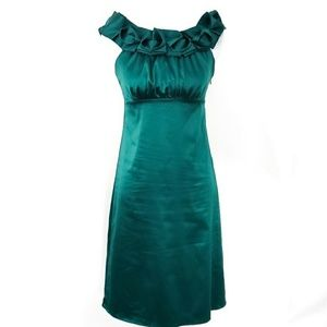 The Limited Emerald Green Satin Dress